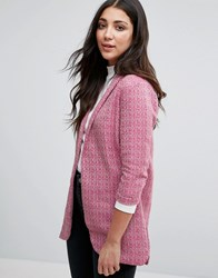 Neon Rose Textured Blazer Pink