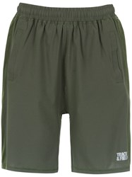 Track And Field Gym Shorts Green