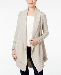 Styleandco. Style Co. Shawl Collar Open Front Cardigan Only At Macy's Hammock Heather