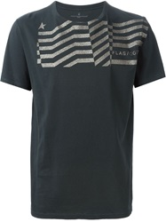 Golden Goose Deluxe Brand Glitter Stripe Detail T Shirt Grey