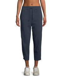 Spiritual Gangster Cropped Side Stripe Track Pants Bright Blue