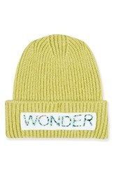 Topshop Women's Wonder Knit Beanie Yellow