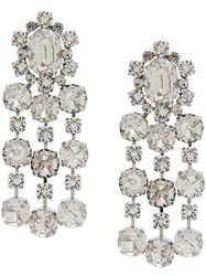 Ca And Lou Crystal Embellished Earring Metallic
