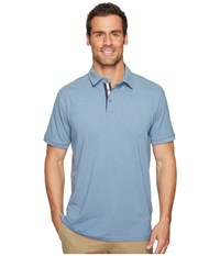 Quiksilver Reel Backlash Polo Blue Shadow Heathered Men's T Shirt