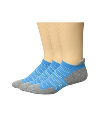 Feetures Hp Cushion 3 Pair Pack Tropical Blue No Show Socks Shoes
