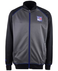 Majestic Men's New York Rangers Wow Track Jacket Charcoal Black