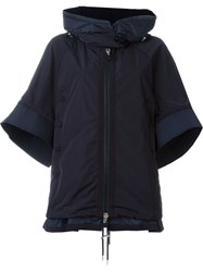 Moncler Bell Sleeve Padded Jacket Blue
