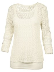 Fat Face 2 In 1 Lace Top Ivory