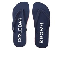 Orlebar Brown Men's Efren Flip Flops Navy Rescue Red White Blue