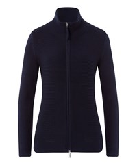 Olsen Turtle Neck Cardigan Navy
