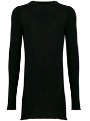 Masnada Low Rolled Neck Sweater Black