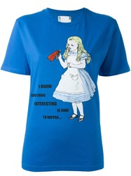 Ymc 'Alice In Wonderland' T Shirt Blue