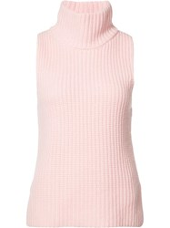 Novis Ribbed Detail Knitted Top Pink Purple