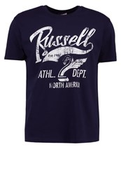 Russell Athletic Print Tshirt Navy Dark Blue
