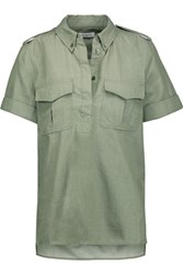 Equipment Rory Cotton Shirt Army Green