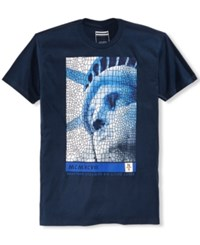 Sean John Men's Freedom Graphic Print T Shirt Navy