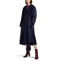 Sies Marjan Sigourney Double Breasted Trench Coat Navy