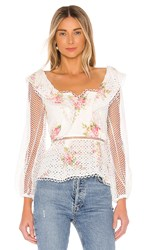 Elliatt Love Top In White. White Multi