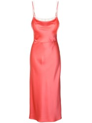 Jason Wu Crepe Back Satin Trompe Loeil Cami Slip Dress Pink Purple