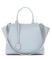 Fendi 3Jours Leather Tote Blue