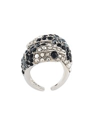 Roberto Cavalli 'Serpent' Ring Metallic