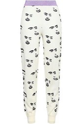 Missoni Woman Intarsia Wool Blend Track Pants Off White Off White