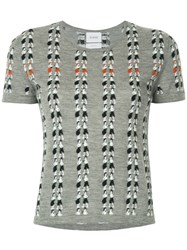 Barrie Intarsia Knit Top Grey