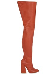 Ellery 100Mm Leather Over The Knee Boots