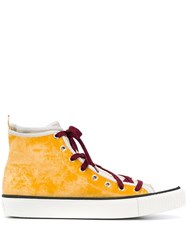 Lanvin Hi Top Sneakers Yellow