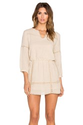 Anine Bing Dress With Lace Details Tan
