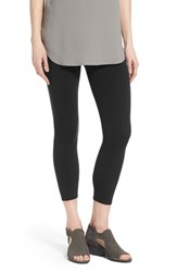 Women's Eileen Fisher Organic Cotton Crop Leggings Black
