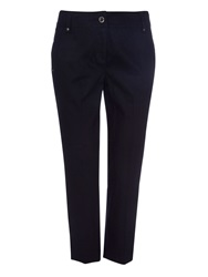 Wallis Petite Navy Cotton Crop Trousers