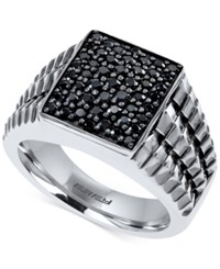 Macy's Gento By Effy Men's Black Sapphire 1 1 4 Ct. T.W. Ring In Sterling Silver