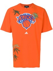 Creatures Of The Wind Ny Knicks Print T Shirt Orange