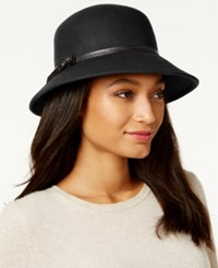 Nine West Felt Trench Coat Hat Black