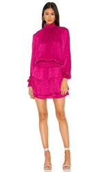 Krisa Smocked Turtleneck Dress In Pink. Snob