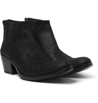 Haider Ackermann Cuban Heel Brushed Suede Boots