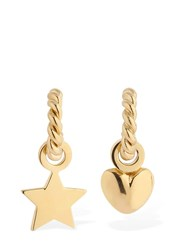 Isabel Lennse Lvr Exclusive Miss Matched Loop Earrings Gold