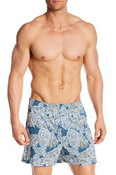 Tommy Bahama Printed Boxer Blue