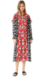 Dodo Bar Or Mick Dress Red Paisley