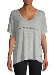 Peace Love World Mia Everything About You Top Heather Grey