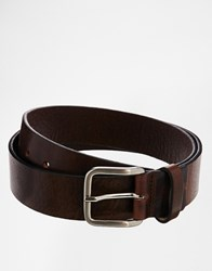 Royal Republiq Leather Limit Belt In Brown Brown