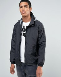 Kappa Lightweight Jacket With Taping Black