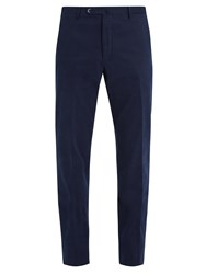 Connolly Mid Rise Straight Leg Stretch Cotton Trousers Navy