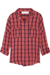 Iro Kirby Checked Cotton And Wool Blend Shirt Red