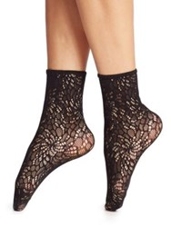 Wolford Small Lace Anklet Socks Black