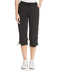 Marc New York Performance Commuter Side Tie Cropped Lounge Pants Black