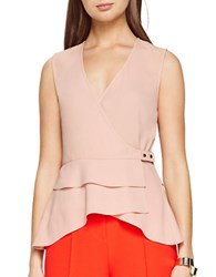 Bcbgmaxazria Eleni Sleeveless Peplum Top Antique Rose