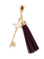 Xaa Tassel Keyring Women Leather Metal One Size Red