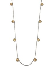 Konstantino Kerma Bronze And Sterling Silver Coin Station Necklace Bronze Silver